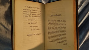 Walpole, Horace, A CATALOGUE OF THE ROYAL AND NOBLE AUTHORS OF ENGLAND, WITH LISTS OF THEIR WORKS.-1759