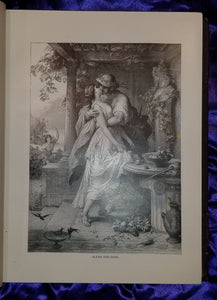 CHARACTER SKETCHES OF ROMANCE, FICTION AND THE DRAMA -1892 Leather, Profusely Illustrated, Beautiful