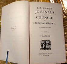 LEGISLATIVE JOURNALS OF COLONIAL VIRGINIA, 3 vols. complete, Set #323 of 500