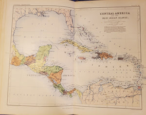 A SCHOOL ATLAS of GENERAL AND DESCRIPTIVE GEOGRAPHY, Johnston 1860.