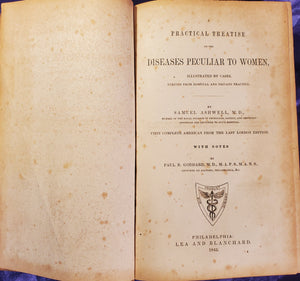 A PRACTICAL TREATISE ON THE DISEASES OF FEMALES, Full Leather 1845 1st American