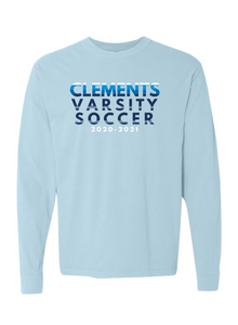 CHS Men's Soccer Chambray Long-Sleeve Fan Shirt [Last Name: K-Z]