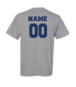 CHS Men's Soccer Granite Short-Sleeve Fan Shirt [Last Name: K-Z]