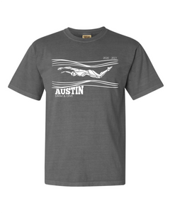 AUSTIN HS SWIM FAN SHIRT [Last Name: Chatram - Kulow]