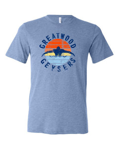 Men's Blue Bella Triblend With Vintage Surf Design