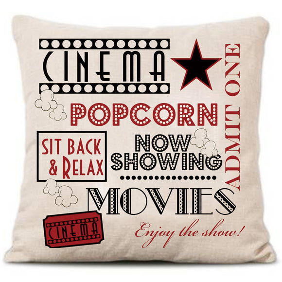 Cushion Cover Vintage Cotton Linen Blended Cinema(FREE SHIPPING)