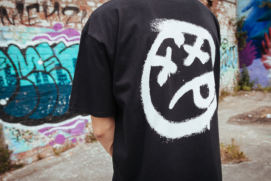 SPRAY PAINT ACID FACE T-SHIRT