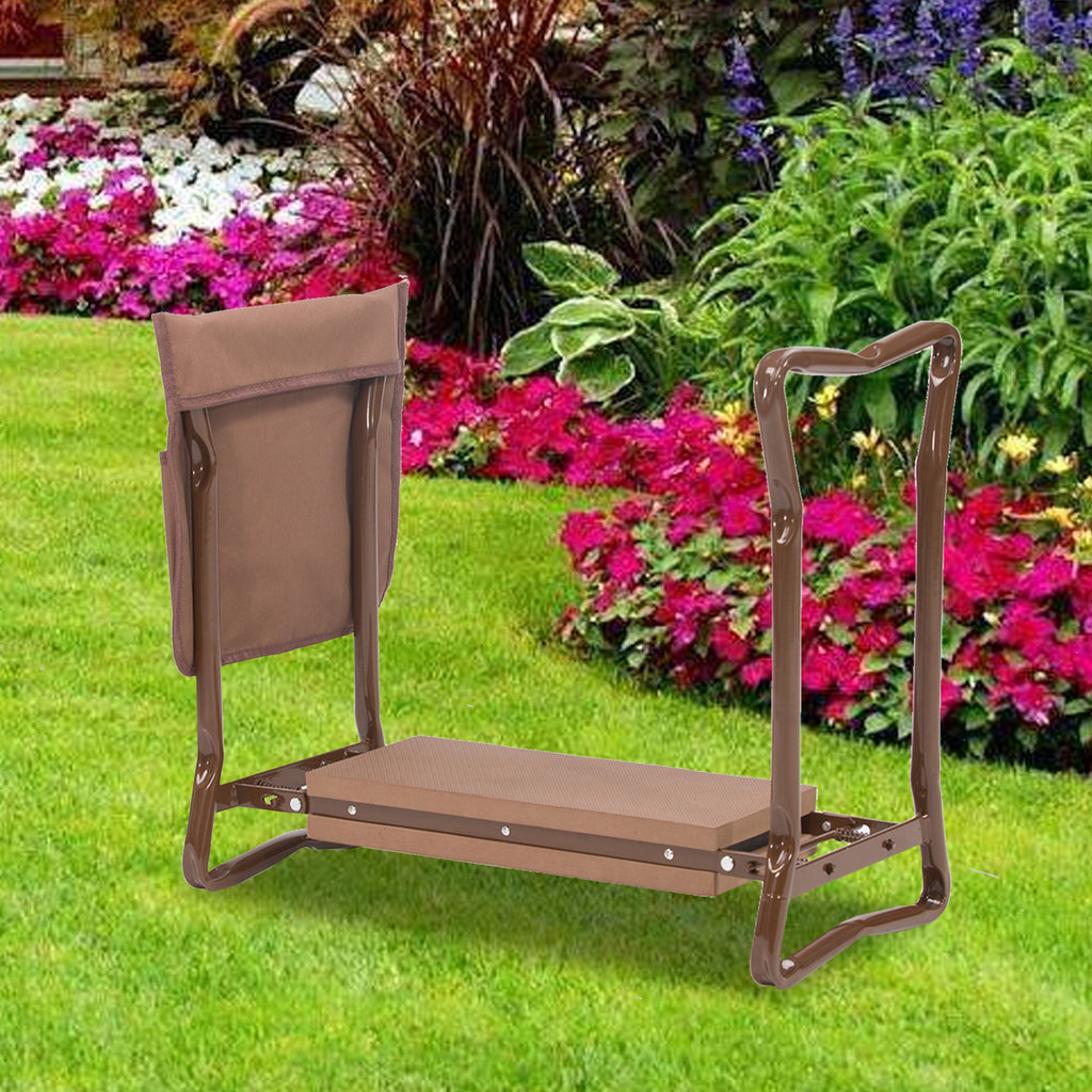 NEW Multi-functional Brown Garden Kneeler & Seat Bundle 2020