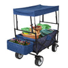 Garden Trend - Folding Wagon Garden Trolley with Basket