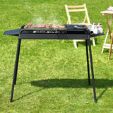 Height Adjustable Outdoor Barbecue Charcoal Grill Stove