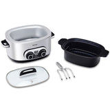 4-in-1 6 Quart Stainless Multi Cooker