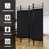 4 Panel Freestanding Metal Frame Private Folding Hinged Room Divider