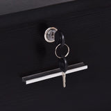 Classic Wall Mount Styling Salon Locking Cabinet
