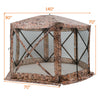 Portable Pop Up 6 Sided Canopy Instant Gazebo Screen Tent
