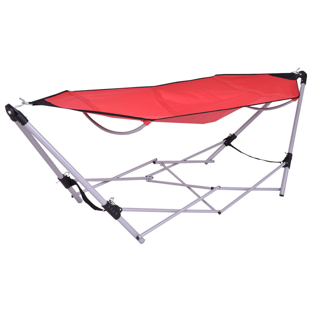 Portable Folding Steel Frame Hammock with Bag