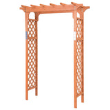 7 ft Garden Wooden High Arbor Arch Plant Pergola