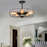 5-Light Vintage Metal Hanging Ceiling Light