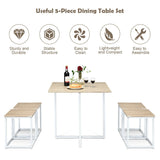 5 Pcs Dining Table And Chairs Set Compact Space Bar