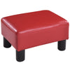 Small PU Leather Rectangular Seat Ottoman Footstool