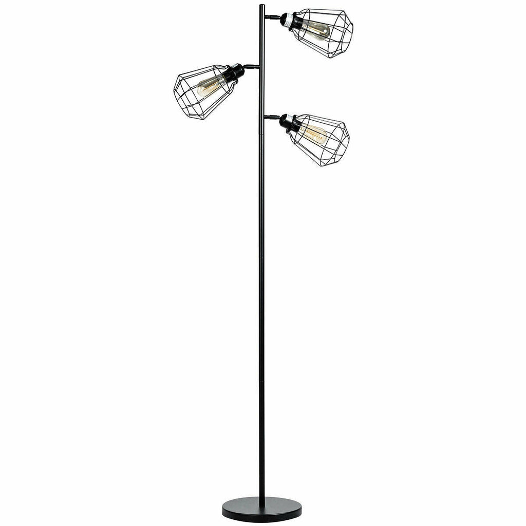 3-Light Modern Adjustable Tree Floor Lamp