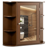 Multipurpose Mount Wall Surface Bathroom Storage Cabinet with Mirror