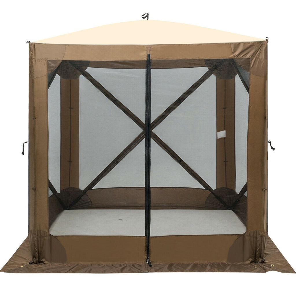 Portable Pop Up 4 Sided Canopy Instant Gazebo Screen Tent Shelter