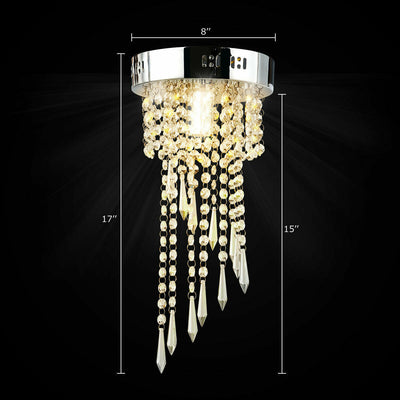 Elegant Ceiling Crystal Chandeliers with Stainless Base