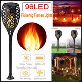 2 PCS Solar Led Torch Light Dancing Flame Edition