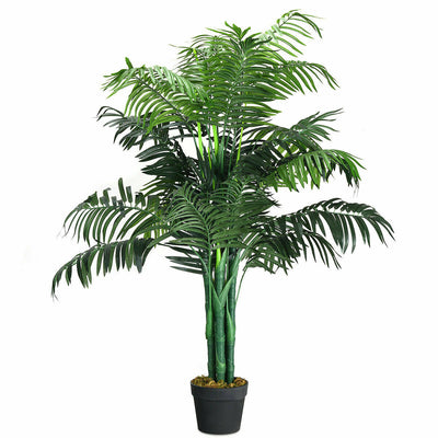 3.5-Feet Artificial Areca Palm Decorative Silk Tree with Basket In/Outdoor Green