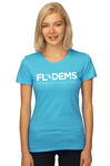 Florida Democrats Signature Ladies T-Shirt Scuba Blue