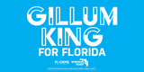 Gillum King Bumper Sticker - Blue