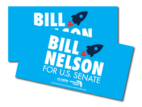 Bill Nelson Bumper Sticker - Blue