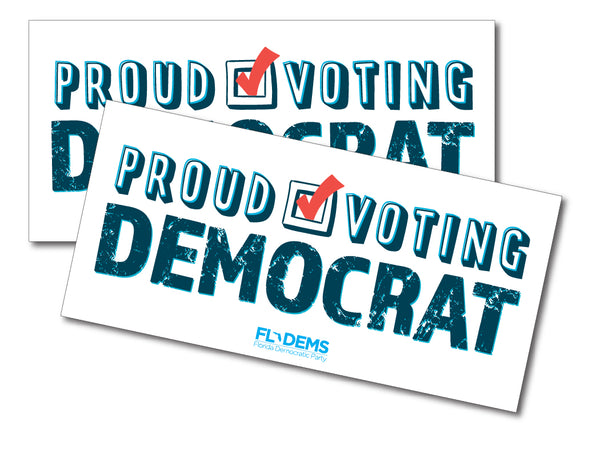 Proud Voting Democrat Bumper Sticker