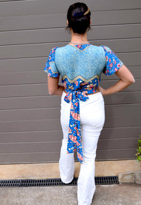 Wildflower Wrap Top