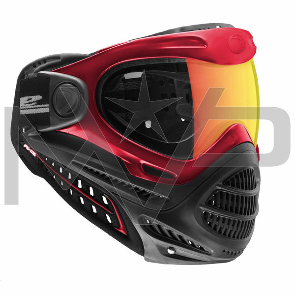 DYE Axis Thermal Paintball Mask - Red Bronze Fire