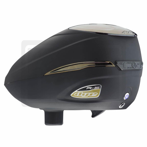 DYE Roto R2 Electric Paintball Loader - Black w/ Gold