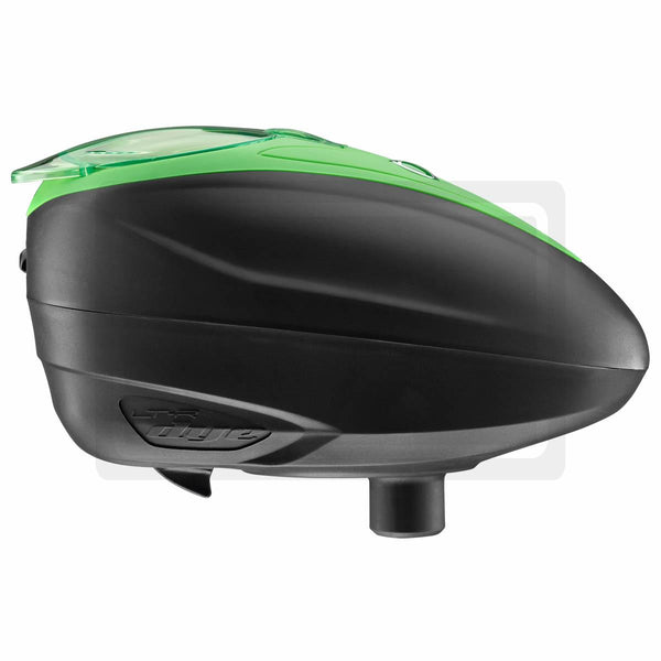 DYE Rotor LTR Electric Paintball Loader - Black w/ Lime