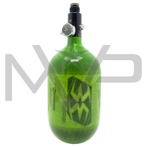 Empire MEGA Lite Carbon compressed Air HPA Tank - 68ci / 4500psi Exclusive Lime