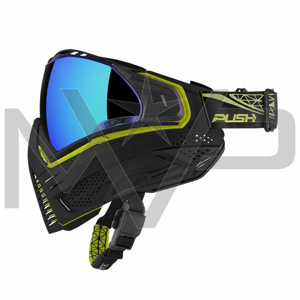 PUSH Unite Paintball Mask - Black/Lime