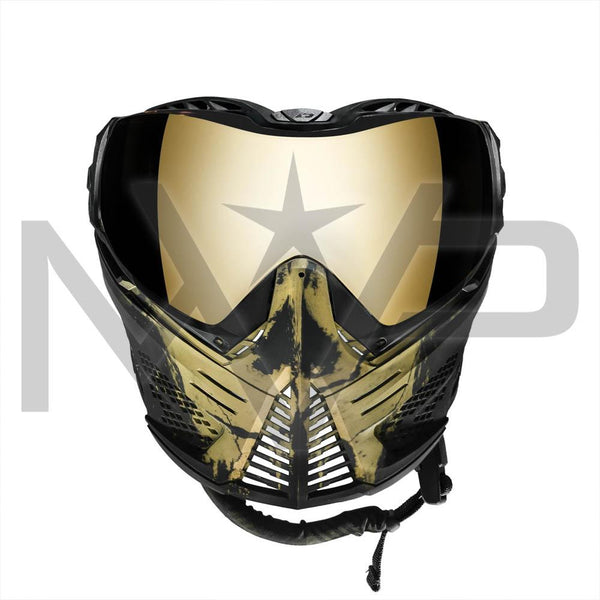 PUSH Unite Paintball Mask - Gold Skull