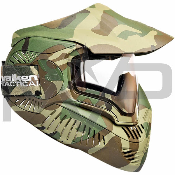 Valken MI-7 Thermal Paintball Mask - Woodland Camo