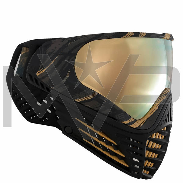 Virtue Vio Contour Graphic Paintball Mask - Gold