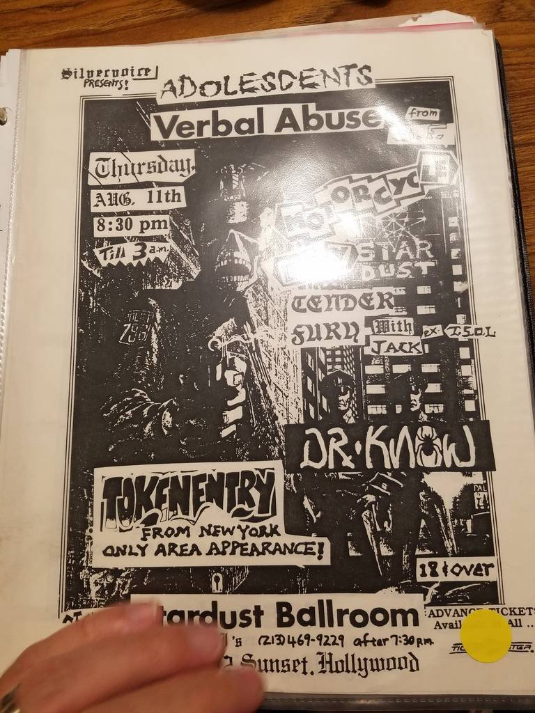 $10 PUNK FLYER - VERBAL ABUSE DR KNOW