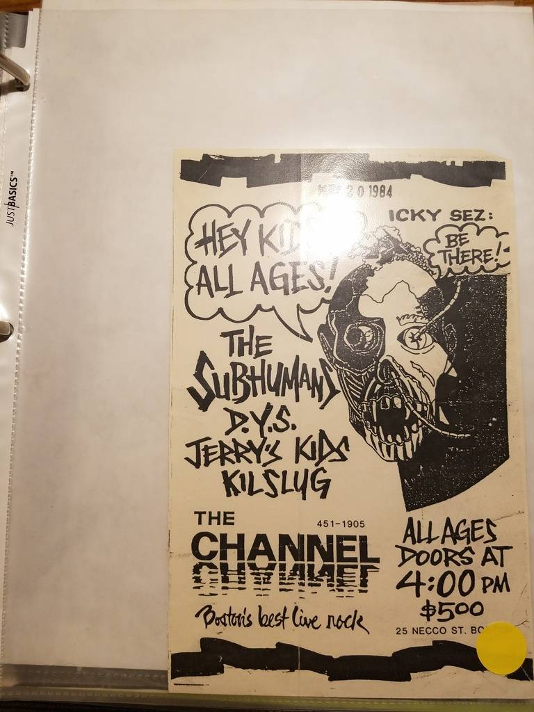 $10 PUNK FLYER - SUBHUMANS DYS JERRY'S KID