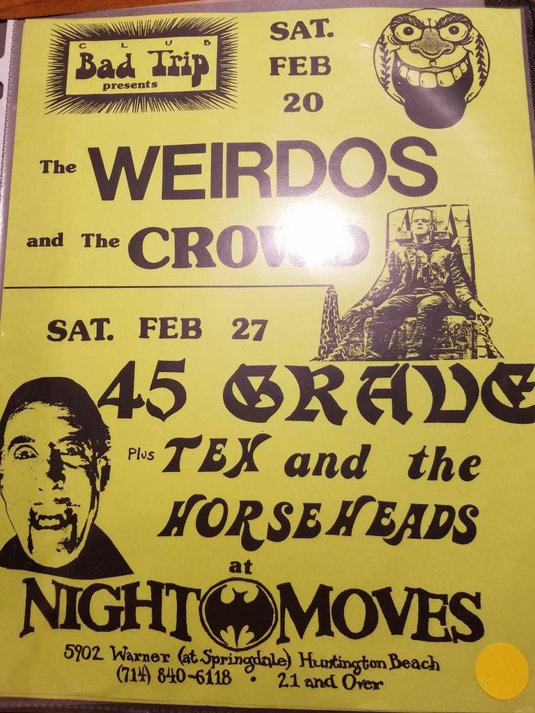 $10 PUNK FLYER - WEIRDOS 45 GRAVE CROWD