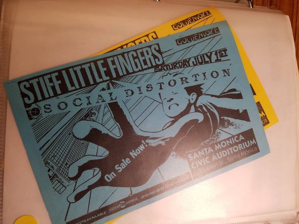 $10 PUNK FLYER - STIFF LITTLE FINGERS SOCIAL DISTORTION