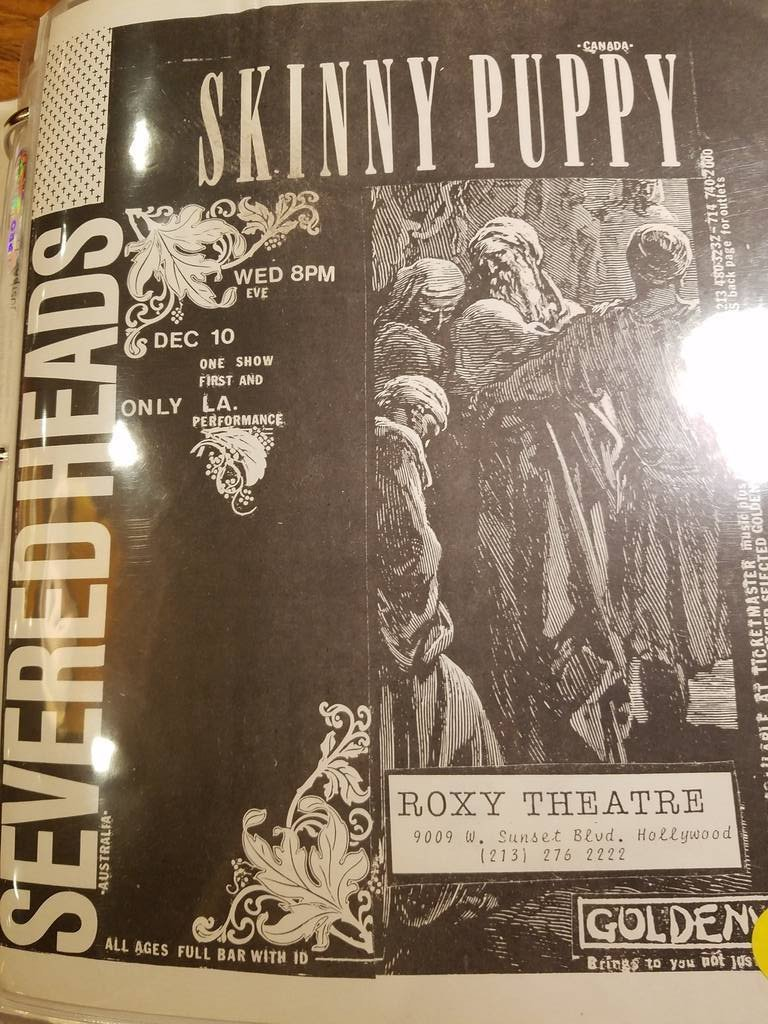 $10 PUNK FLYER - SEVERED HEADS SKINNY PUPPY