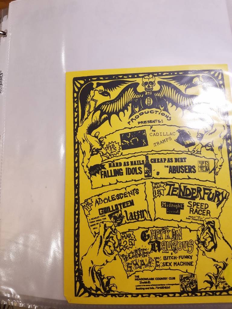 $10 PUNK FLYER - CADILLAC TRAMPS ADOLESCENTS ABUSERS