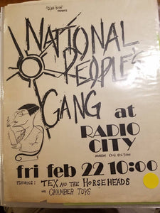 $10 PUNK FLYER - NATIONAL PEOPLE'S GANG TEX AND THE HORSEHEADS