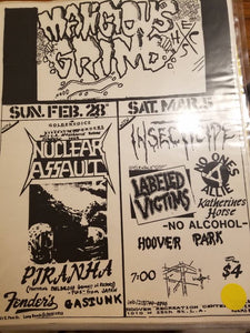 $10 PUNK FLYER - MALICIOUS GRIND NUCLEAR ASSAULT